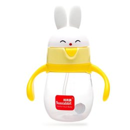 Wholesale Arc Auto - High Quality PP Cute Cartoon Wide Mouth 300ml Baby Auto-straw Baby Feeding Bottle With Handle or Nursing Bottle 260ML 320ML XV3