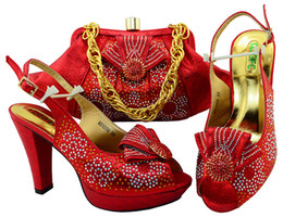 Wholesale Italian Green Party - vivilace 2018 Food Looking African Women Matching Italian Shoes And Bag Set Italian Shoes With Matching Bag For Wedding Dress