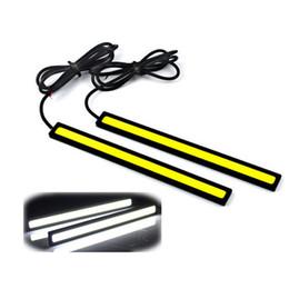 2 PCS 17 cm 12 V COB LED DRL conduite diurne feux bande COB LED DRL Bar Stripes panneau lampes Auto conduite jour temps lumières ? partir de fabricateur