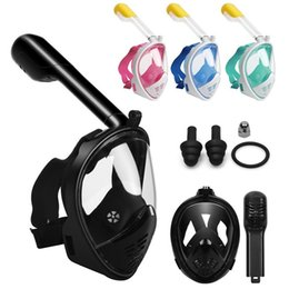 Wholesale Full Dive - Adult Teenager Diving Mask Underwater Scuba Anti Fog Full Face Diving Mask Snorkeling Set with Anti-skid Ring Snorkel c002-3