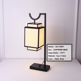Wholesale Classic Metal Works - New Chinese Style Table Lamp Wrought Iron Fabric Classic Custom-made