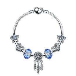 Pandora gold murano online-Art und Weise 925 Sterlingsilber-Kristall Murano Lampwork Glass Crystal European Charm-Perlen für Pandora Charm-Armbänder Stil Schiff frei