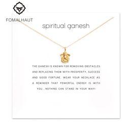 Wholesale Wholesale Spiritual Jewelry - whole saleSparkling spiritual ganesh elephant Pendant necklace Clavicle Chains Statement Necklace Women FOMALHAUT Jewelry