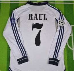 2000 2001 Soccer Jerseys real madrid jersey retro vintage classic 00 015  RAUL FIGO camisetas futbol maillot de foot free shipping 56cb80402