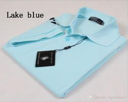 Wholesale Sports T Shirts Mens - Best Seller size S~6XL Sales Golf polo Mens T-shirt multi color slim polo shirt lapel short-sleeve Tees Mens sport shirtHigh-quality mi