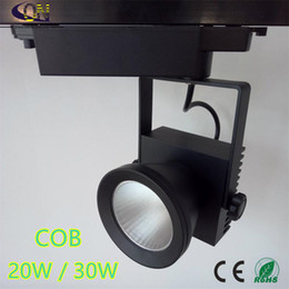 Wholesale Free Shopping Malls - Free Shipping 20W 30W COB LED track light for store shopping mall lighting lamp Color optional White black Spot light AC85-265V