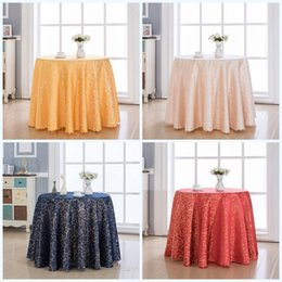 round tablecloths cotton Promo Codes - Chemical Fiber Round Tablecloth With Multi Color Durable Table Skirt Easy Clean Soft Floral Desk Clothes Wedding Party 30qq3 jj