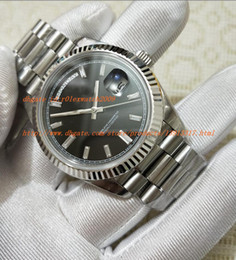 Wholesale real dive - Luxury watches Real shots EW Factory Best Quality Luxury Watch Diamond Dial 40mm ETA 3255 Movement Automatic Diving Mens Watch Watches
