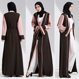 Wholesale islamic s - Muslim Eid Abaya Kaftan Dubai Muslim Islamic Dress party Women prayer Long robe