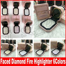 Wholesale multi color highlighter - Faced Makeup Diamond Light Multi-Use Diamond Fire Highlighter 6 colors face pressed powder rehausseur eclat bronzer highlighters