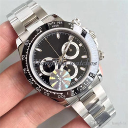 Wholesale Swiss Automatic Movement Chronograph - Luxury BrandTOP JF Factory V8 Clone Watch Hot Sell 40mm 116506 116520 116509 116500 Swiss ETA 7750 Movement Chronograph Ceramic Mens Watches