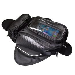 Canada OHANEE Sacoche de réservoir de moto avec la poche de téléphone portable magnétique Moteur étanche noir Huile Sac de carburant de la moto cheap pocket motors Offre