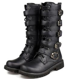 homens da boina do cowboy Desconto Punk Rock Mens Preto Fivela Goth Botas Tamanho Grande Britânico Sapatos de Cowboy Sapatos de Salto Baixo Da Motocicleta C310