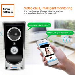 Aplicativo de câmera sem fio para celular android on-line-Wi-fi de Vídeo Porteiro Inteligente 3.0MP 720 P Câmera IP Sem Fio Sistema de Interfone de Vídeo À Prova D 'Água IOS Android APP Câmera Doorbell Móvel