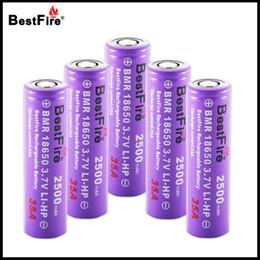 2019 ecig box mod lila 100% original bestfire 18650 batterie vape e zigarette akku 2500 mah 35a für alien 220 watt al85 mag kit