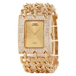 золотые часы для дам Скидка 2017 Women Time Golden  Bracelet Watch Rhinestone Big Women Watches Ladies Gold Steel Bracelets Female Clock Top
