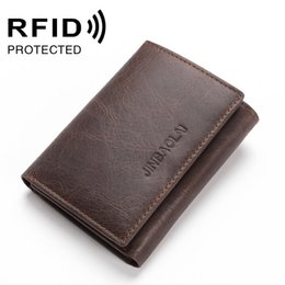 Wholesale Interiors Designs - New Fashion Casual RFID Anti-theft Leather Card Bag Quality Design Folder 3 Fold Short Male Wallet Wallet Card Holder Men's Card Package
