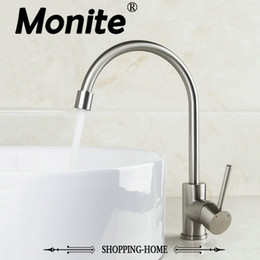 Wholesale Brushed Nickel Vessel Sinks - New Brand 2014 Sink Kitchen Faucets Swivel 8472-2 Basin Nickel Brushed Tap Vessel Vanity Lavatory Faucets,Mixers & Taps