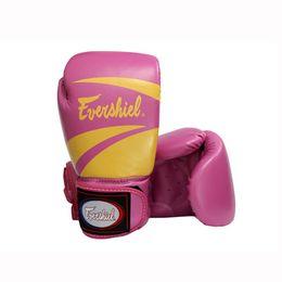 2019 scatola di fiamma Uomo donna Fitness Sport rosa Guantoni da boxe Flame Stampa Ispessimento pastiglie Combattimento libero Kickboxing Lotta MMA Muay Thai Training sconti scatola di fiamma