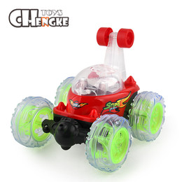 Wholesale Electric Truck Toys - Rc Car 360 Degree Rotation With Music Stunt Tumble Car Rechargeable Acrobatics Toy Car Electric Dump Truck Remote Control Toys