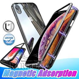 venta al por mayor de teléfonos celulares inteligente Rebajas 2019 Recién llegado de la caja de adsorción magnética de lujo a prueba de choques de metal Bumper cubierta del teléfono para el iPhone X XS MAX XR 8 Plus Samsung s10 s10e s9