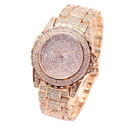 Wholesale Wholesale Diamond Watches Men - Men's Watches Man Diamond Watch Clock Analog Quartz Vogue Wristwatches Gifts 2018 Luxury Male Watches Clock relojes hombre 2018
