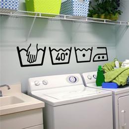 Stickers muraux en vinyle Instructions de nettoyage Buanderie Salle de bains Toilette Public icon Stickers muraux Décor à la maisonDécal DIY Art Muraux ? partir de fabricateur