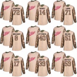 2018 Camo Veterans Day 40 Henrik Zetterberg 21 Tomas Tatar 43 Darren Helm  42 Martin Frk Detroit Red Wings Custom Hockey Jerseys tomas tatar deals 59cc9f27c