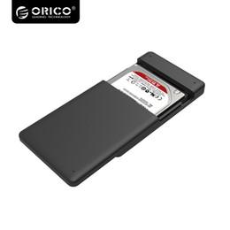 hdd gehäuse großhandel Rabatt Großhandels-ORICO 2.5 HDD Gehäuse SATA zu USB 3.0 HDD Fall-Werkzeug geben für 7mm / 9.5mm 2.5 Festplattenlaufwerk 2577U3-BK frei