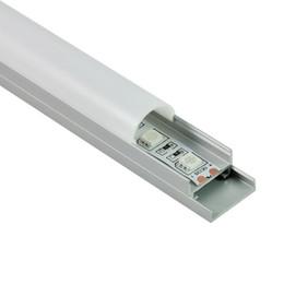 couvercles de plaques lumineuses Promotion 50 X 2M ensembles / lot forme en forme de dôme led profilé en aluminium bande demi couverture en aluminium conduit canal avec plaque pour plafonniers muraux