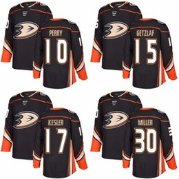 Wholesale Custom Hockey Jerseys Cheap - Cheap 2018 New Brand Ad Mens Anaheim Ducks 10 Corey Perry 15 Ryan Getzlaf 17 Ryan Kesler Korbinian Holzer Black Custom Hockey Jerseys