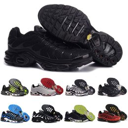 Wholesale Discount Mens Tennis Shoes - Discount Brand Sports Running Shoes New Air Cushion TN Men Black White Red Mens Runner Sneakers Man Trainers Tennis Shoes