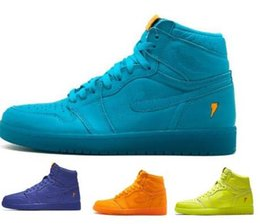 Wholesale China Line - Top 1 Gatorade Basketball Shoes Men Mens Black OG Wool Line 1s I UNC High Skateboard Sport China Brand Chicago Homme Shoe Cheap