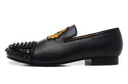 Argentina [Caja original] Hi-Q Zapatos inferiores casuales rojos para mujer Zapatos de boda de fiesta de lujo, cuero genuino Spikes Toe Unisex Mocasines de diferentes colores Suministro