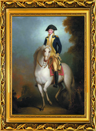 Wholesale Horse Portrait Oil Painting - High-quality Hand-painted Portrait Oil Painting Wall Decor Art on canvas SA26,America George Washington ride horse 24x32inch (no framed)