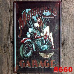 apertos para guiador kawasaki Desconto Sinal Da Parede Do Metal do vintage Motocicleta Gasolina Decoração Sinal Da Lata Bar Pub Garagem Placa de Lata Placa de Decoração Da Parede Da Arte do Cartaz 20 * 30 cm