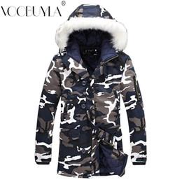 Verdicken Pelz Mit Kapuze Parka Männer Mäntel 2018 Winterjacke Herren  Schlank Lange Outwear Warm Top Plus Größe 5XL Lässige Männer Mantel  Camouflage ... e8a9abde9c