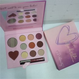 Wholesale Multi Color Lips - ultabeauty 2 in 1 eye shadow and lipgloss palette melisa michelle love 11 colors eyeshadow palette and a monochromatic Matte lip color