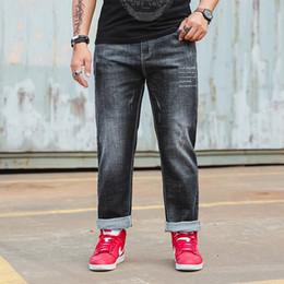 Wholesale Denim Fat Pants - Oversized Jeans Fat 300 Pounds Extra Large Fat Pant Big Men 160kg Mid Waist Trousers 4XL 5XL 6XL Big Size Business Jeans Pants