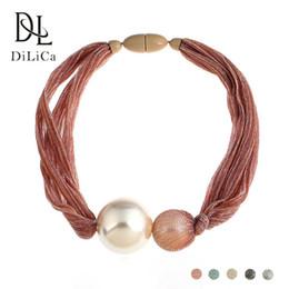choker kostüm perlenketten Rabatt DiLiCa Handmade Modeschmuck Big Simulierte Perle Halsketten Anhänger Böhmen Erklärung Charms Choker Bib Halskette für Frauen