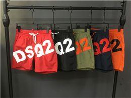 Wholesale Pant Sweatpants - 2018 Men's ds2 shorts Men Fashion Knee Length luxury printing shorts Men's short Pants Black Mens Brand beach shorts sweatpants size M-2XL