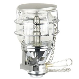 torch glasses Promo Codes - 100LUX Mini Portable Camping Lantern Gas Light Tent Lamp Torch Hanging Glass Lamp as Fuel for Travel