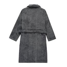 36fb83f984 1pcs lot2017 Spring Autumn Warm Coral Fleece Couple Robes Family Flannel  Nightdress Women   Men Sleepwear