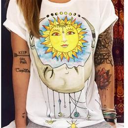 2019 vêtements d'été punk T-shirts D'été Femmes Designer Vêtements T-shirt Imprimer Punk Rock Mode T-shirts graphiques T-shirt européen Mode Blanc vêtements d'été punk pas cher