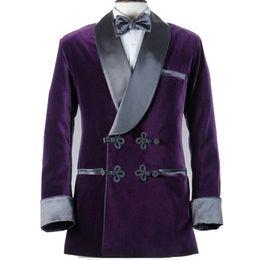 39fc9baf2e3 2018 Custom Made Velvet Men Suits Wedding Tailored Smoking Groom Tuxedos  Slim Fit Groomsman Party Mens Blazer Only Jacket