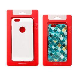 Cassa del telefono del pacchetto della bolla online-Scatola di imballaggio al dettaglio Scatola di imballaggio in carta kraft Porta blister per iPhone 6 6S 7 8 Plus X 10 Samsung Note 10 S9 S10 Custodia per telefono con bordi