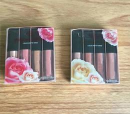 Wholesale Nude Love - New Hot Beauty The Nude Love Edition Lipgloss Liquid Matte Mini lipstick set 4pcs set Pink Nude Beauty Lipstick DHL shipping+Gift
