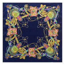 cara de las niñas bufanda Rebajas Spring Autumn Silk Scarf Wrap Rope Tassels Pattern Mujer Lady Girl Bufandas Face Towel Sunscreen Shawl Fashion 6 8pl bb