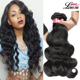 Wholesale Cheap Wavy Human Hair Extensions - Cheap Brazilian Body Wave Human Hair Weave Extensions Unprocessed 8A Mink Brazilian Wet And Wavy Body Wave Virgin Hair 3 4 Bundles