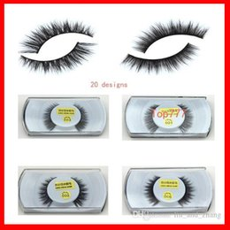 Wholesale Art Handmade - Mink False Eyelashes Eyes Makeup Handmade mink handmade natural 3D models Lashes eyelash manufacturers Beaux Arts promotional